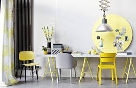 trendfarben grau und gelb schöner wohnen