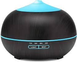 luftbefeuchter ultraschall aromadiffusor aus holzmaserung geeignet für zuhause schlafzimmer büro 550 ml