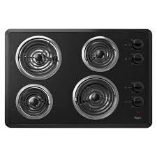 Whirlpool 30 in Coil Electric Cooktop in Chrome with 4 Elements