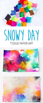 Use Snow To Make Colorful Process Art Pie Day ActivitiesSummer