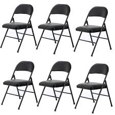 6 Pack Folding Chairs Fabric Upholstered Padded Seat Metal Frame Furniture  Black 50 Pc Ivory Spandex Stretch Folding Arched Front Chair Covers Wedding Pair Of 1950s Heavy Steel Chairs By Samsonite 6 Pack Fabric Upholstered Padded Seat Metal Frame Fniture Black Cosco Oversized Set 4 Cushion Material Garden Upc 042952096731 Of 7 Sudden Comfort By Meco Deluxe Xl Fanback Case4 516592899 Neutral Recover Your Old 4pack