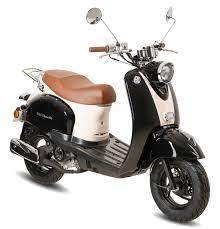 gmx 460 retro classic motorroller 45 km h schwarz weiß 4