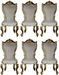casa padrino luxus barock esszimmer stuhl set grau gold rot gold 58 x 57 x h 107 cm küchen stühle 6er set im barockstil barock esszimmer