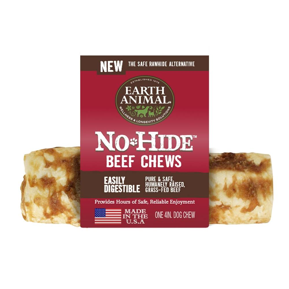 "Earth Animal 4"" No Hide Beef Chews"