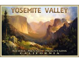 Yosemite Valley California Retro Travel Poster New Scenic National Park Tourism Art Print 301