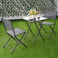 Ebay Patio Table Umbrella by 3 Pcs Bistro Outdoor Folding Furniture Set Outdoor Furniture