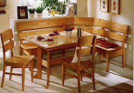 Country Style Dining Room Decor With Rustic Breakfast Nook Table White Stained Oak Floors