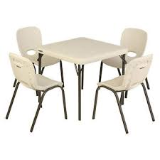 Lifetime Kids Table With 4 Almond Chairs