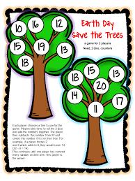 Earth Day Math Board Games