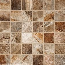 vesale rust brown 2x2 porcelain tile mosaics