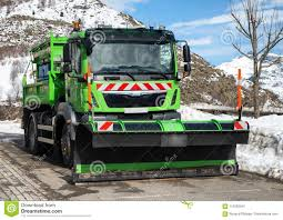 100 Snow Plows For Small Trucks Green Truck Using Plow Stock Photo Image Of Street