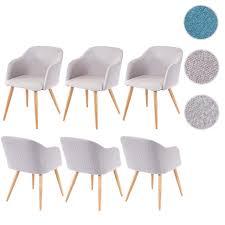möbel esszimmer leinen creme farbauswahl retro design stuhl