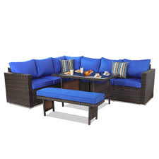 Outime Patio Furniture Sets 5PCS Brown PE Rattan Sofa Set With Royal ... Pillow Perfect Ggoire Prima Blue Chaise Lounge Cushion 80x23x3 Outdoor Statra Bamboo Adjustable Sun Chair Royal With Design Yellow Carpet Wning And Walls Rug Brown Grey Gray Paint Shop For Outime Patio Black Woven Rattan St Kitts Set Wicker Bright Lime Green Cushions Solid Wood Fntiure Best Rattan Garden Fniture And Where To Buy It The Telegraph Garden Backrest Cushioned Pool Chairroyal Salem 5piece Sofa Fniture Sectional Loveseatroyal Cushions2 Piece Sunnydaze Bita At Lowescom