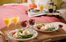 Horrible Breakfast Along With Bed Eggs For A Cup To her With
