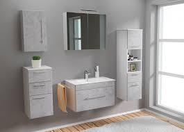 posseik badezimmer set 7 tlg verona design inkl waschbecken und led spiegelschrank 175 x 190