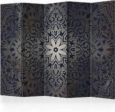 murando raumteiler mandala ornament foto paravent 225x172 cm einseitig auf vlies leinwand bedruckt trennwand spanische wand sichtschutz