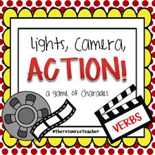 Light Verb by Lights Camera Action Verb Charades Action Verbs Charades And