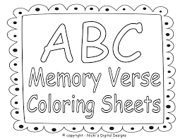 Bible Coloring Pages Verses