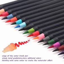 20 Color Set Writing Brush Soft Pen Water Art Marker Effect Best For Adult