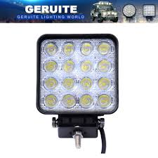 100 Truck Spotlights 10PCS GERUITE LED Spotlight 48W Square Car Lights For SUV