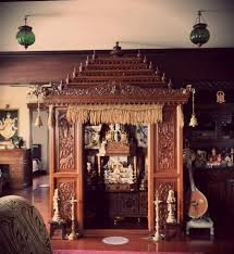 A Traditional South Indian Home With Beautifully Craved Temple