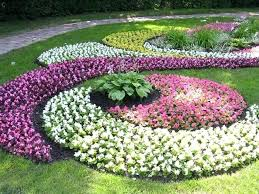 Planning A Flower Garden For Beginners Ideas Stunning Colourful Round Rustic Grass Bed Designs