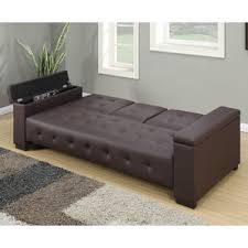 faux leather sofa beds you ll love wayfair