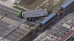 100 Milk Truck Accident Freight Train Slams Into Publix Delivery Truck In Deerfield Beach