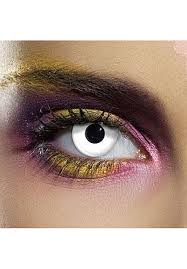 Halloween Prescription Contacts Uk by White Out Zombie Eye Accessories One Day Pair Escapade Uk