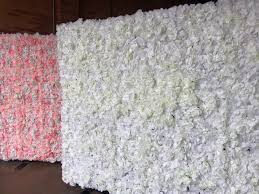 100 Decorated Wall Flower Hire