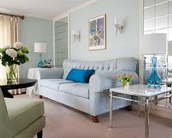 blue living room ideas light walls and sofa