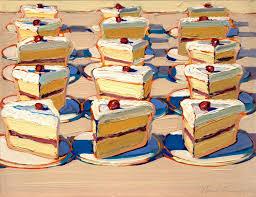 e of Wayne Thiebaud s amazing cake paintings Wonderful use of color & texture those