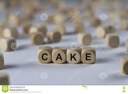 kuchen würfel mit buchstaben zeichen mit hölzernen
