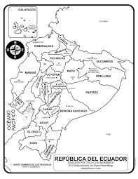 Mapa De Ecuador Con Nombres De Provincias Y Capitales Para Colorear