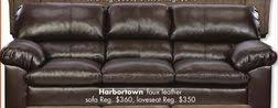 simmons harbortown faux leather sofa from big lots 288 00
