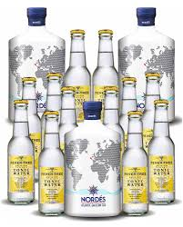 100 Nordes Pack 3 Botellas Gin Nords 12 Botellines De Fever Tree