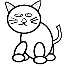 800x800 Drawn Cat Coloring Page Pages Animals Org