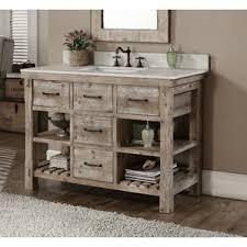 rustic 48 inch vanities you ll love wayfair