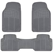 100 Truck Floor Mat BDK All Weather Solid Rubber Trimmable Front And Rear 3Piece