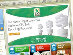 compact fluorescent bulb recycling now available at us home depot