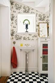 Wainscoting Bathroom Ideas Pictures by Checker Board Floor Small Bathroom Wallpaper Wainscoting