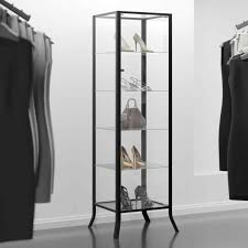 Alluring Wall Cabinets For With Red Golf Shop Club Racks Retail Signage Modern Clothing Displays