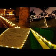 16 5ft Solar Rope Lights Warm White 3000K Waterproof for Christmas