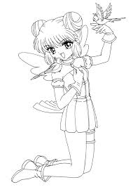 Mint From Mew Anime Coloring Pages For Kids Printable Free