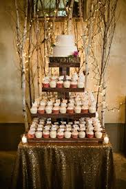 Rustic Wedding Cake Cupcake Tower