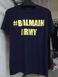 balmain men u0027s typography print balmain army t shirt tee top summer