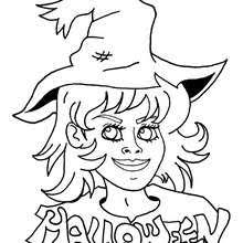 Sorceress Flies On Broomstick Beautiful Witch Coloring Page