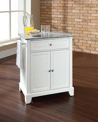 small kitchen island large cart with wood top white color