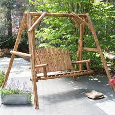 Unique Swing Outdoor Patio Bench With Porch