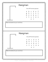 Hangman Template Printable
